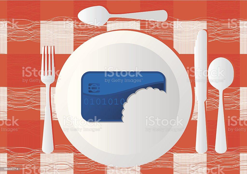 Credit Card Crunch royalty-free stock vector art