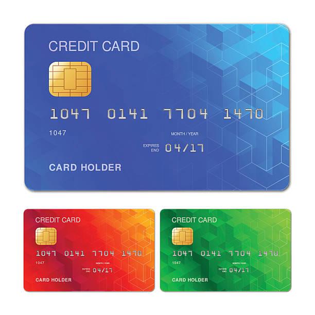 credit card design - credit cards stock illustrations, clip art, cartoons, & icons