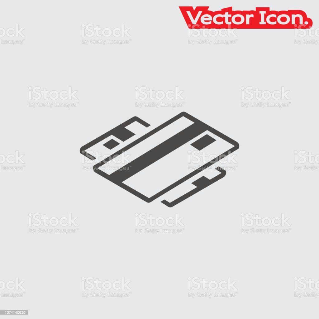 Credit Card Holding Icon Isolated Sign Symbol And Flat Style