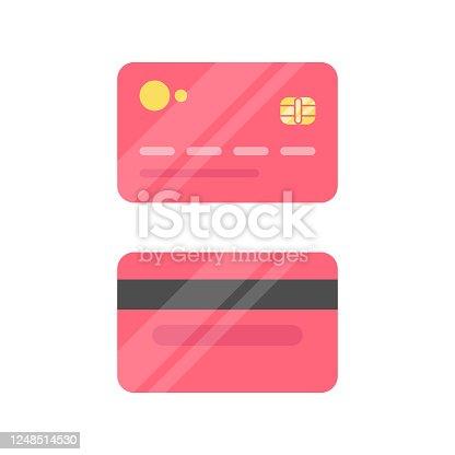 istock Credit Card Icon Flat Design. 1248514530