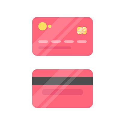 Credit Card Icon Flat Design.