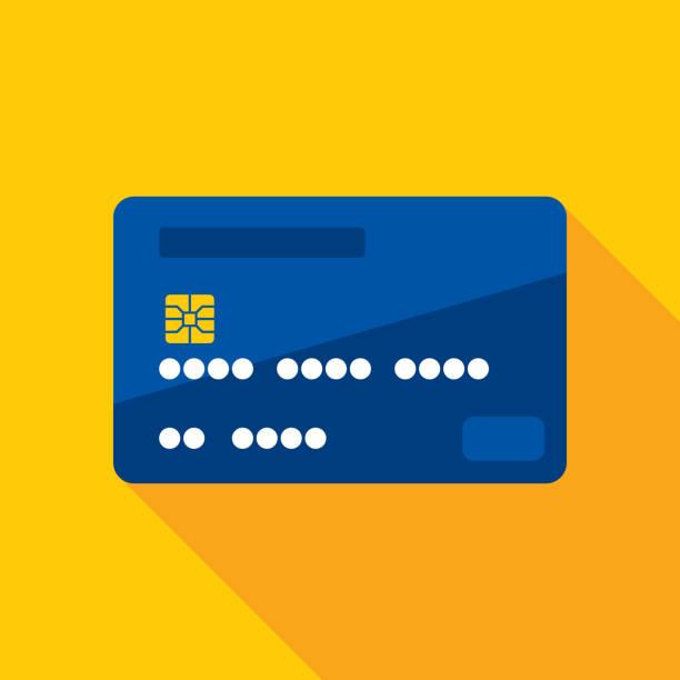 credit card icon flat - karta kredytowa stock illustrations