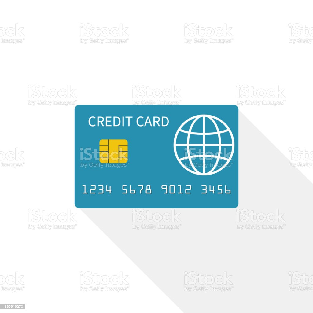 クレジットカードのアイコン白の背景に隔てられた ベクターアートイラスト