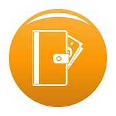 Credit card icon. Simple illustration of credit card vector icon for any design orange