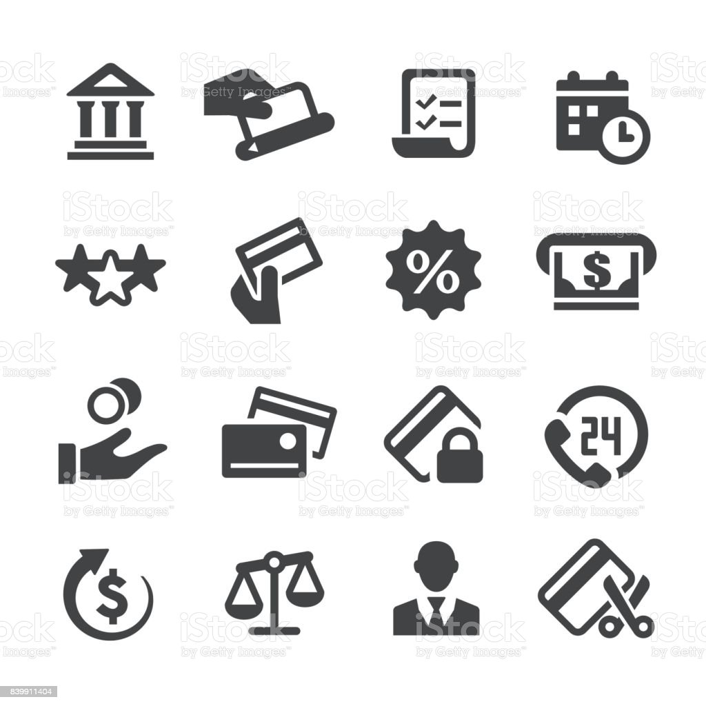 Credit Card Icons - Acme Series vector art illustration