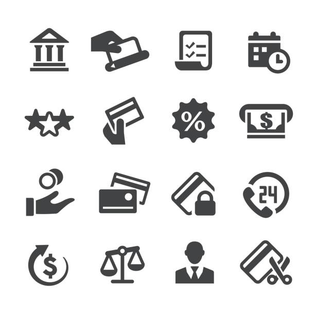 Credit Card Icons - Acme Series Credit Card Icons shopping list stock illustrations
