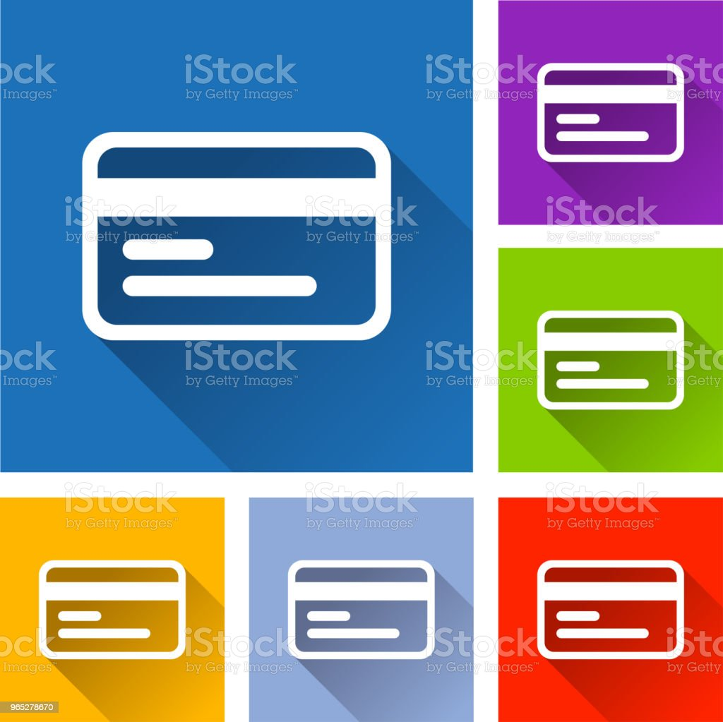 credit card icons with long shadow royalty-free credit card icons with long shadow stock vector art & more images of bank