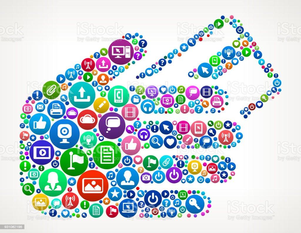 Credit Card Internet Communication Technology Icon Pattern vector art illustration
