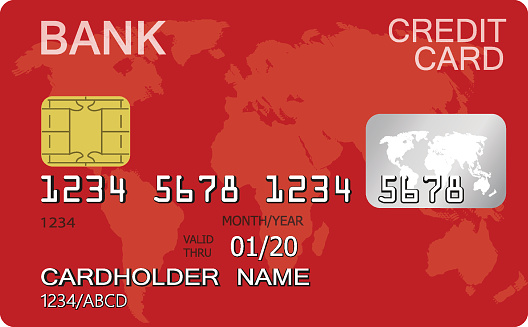 credit card isolated on white background stock