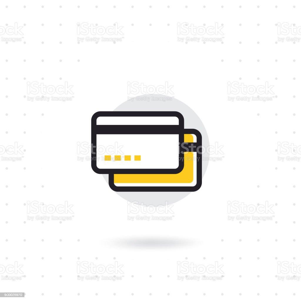 クレジットカードラインのアイコン ベクターアートイラスト