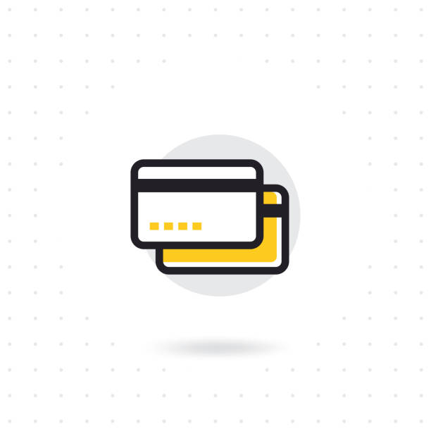 Credit card line icon vector art illustration