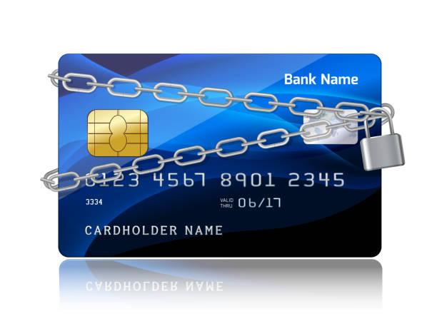 кредитная карта заблокирована - credit card stock illustrations