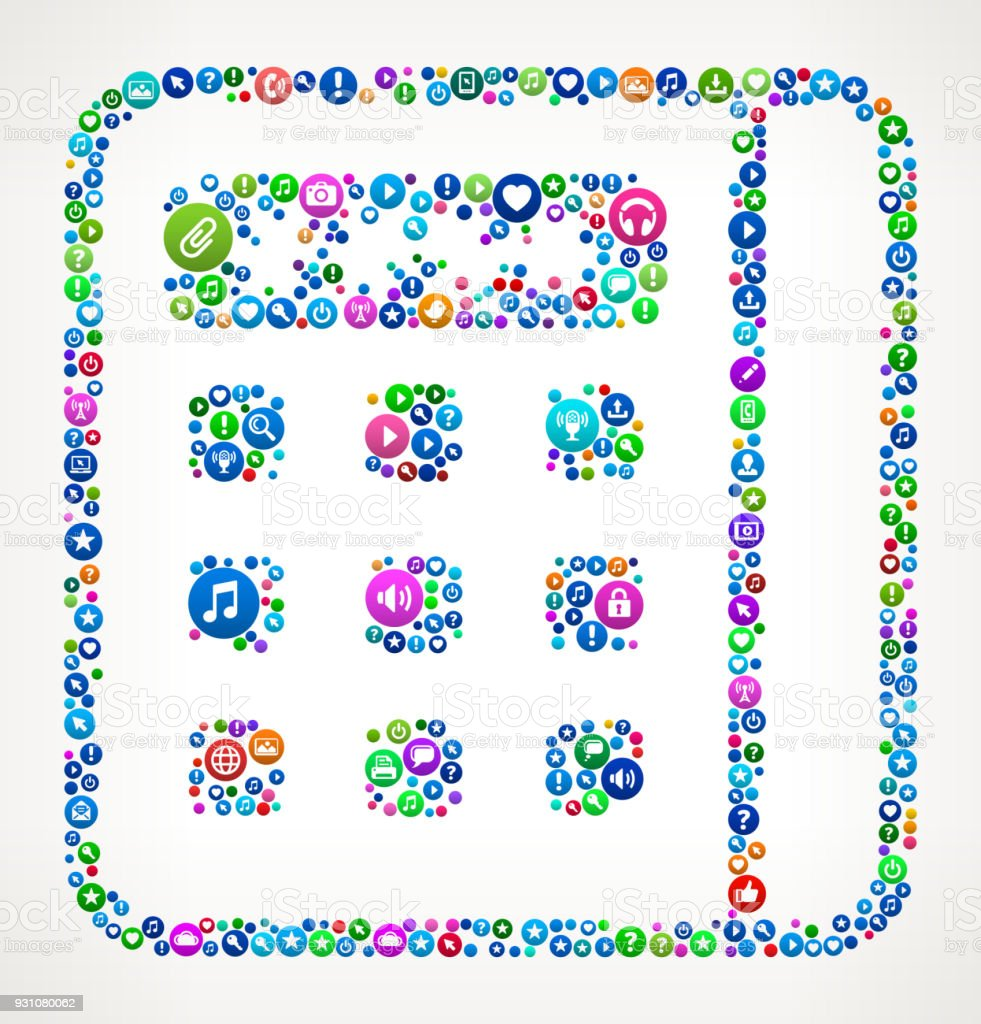 Credit Card Machine Internet Communication Technology Icon Pattern vector art illustration