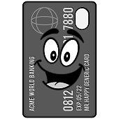 Credit Card Mascot Illustration