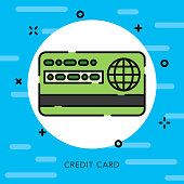 Credit Card Open Outline Banking & Finance Icon