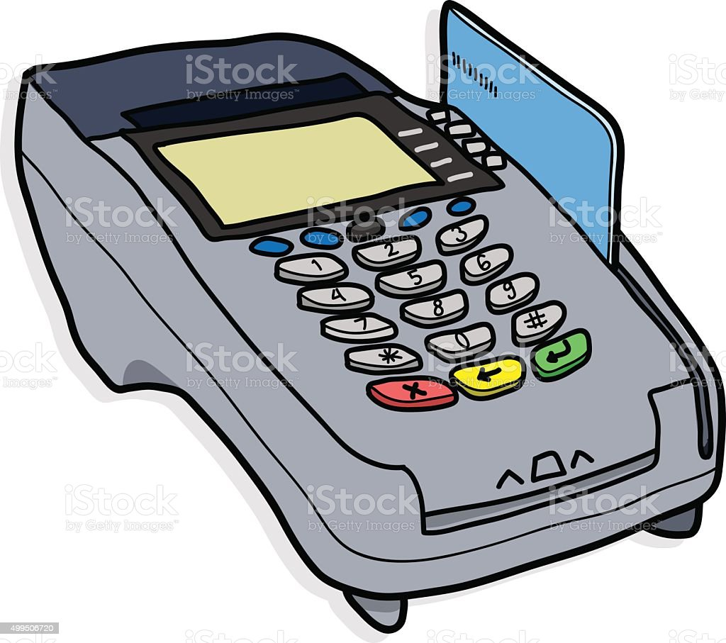 Credit Card Reader Stock Vector Art & More Images of 2015 499506720 ...