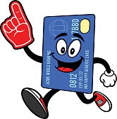 Credit Card Running with Foam Finger