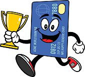 Credit Card Running with Trophy