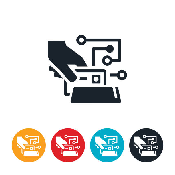 Credit Card Security Icon vector art illustration