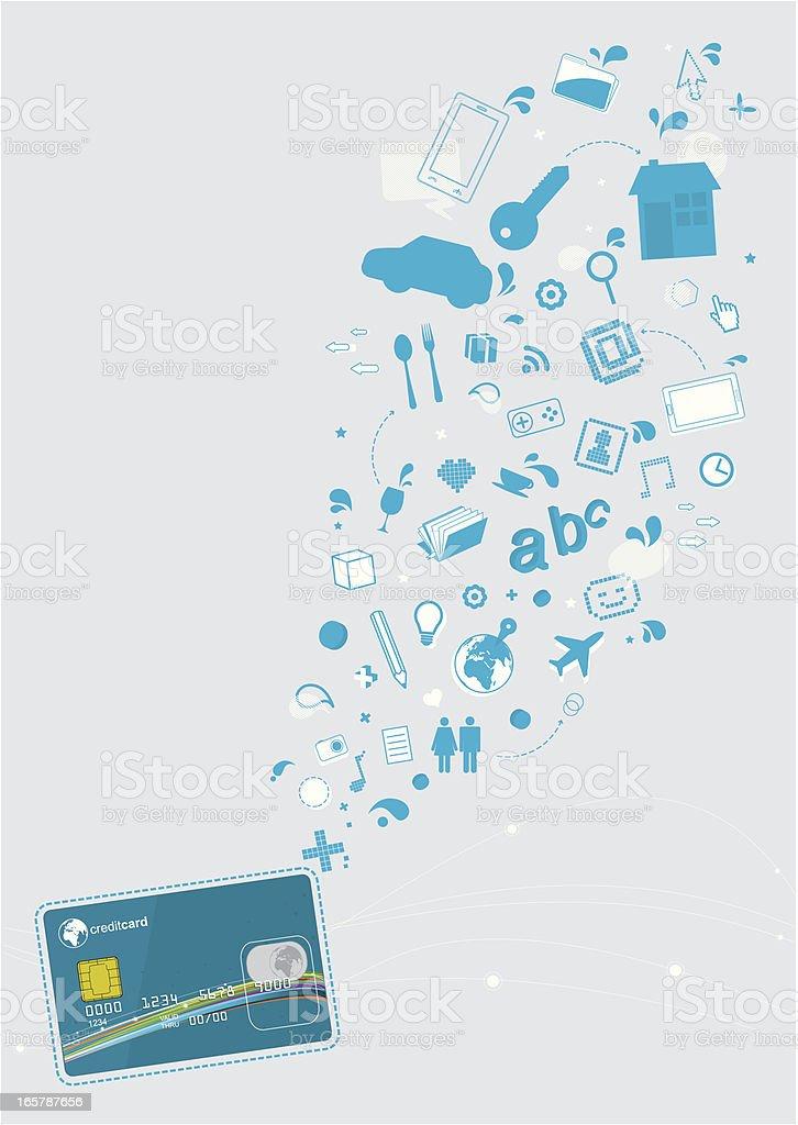 Credit card shopping royalty-free stock vector art