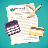 Credit Card Statement Bill Paying