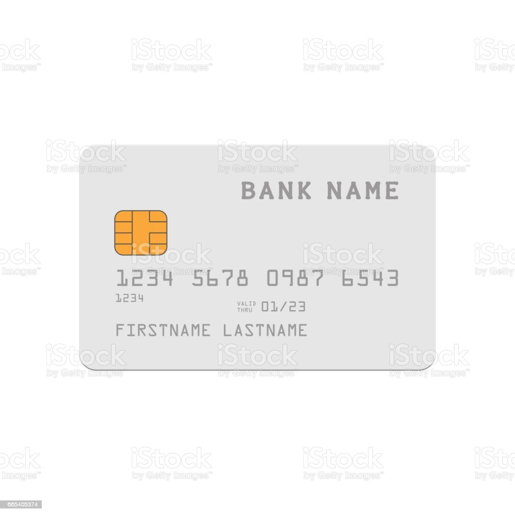 Credit Card Template Stock Vector Art More Images Of Advertisement