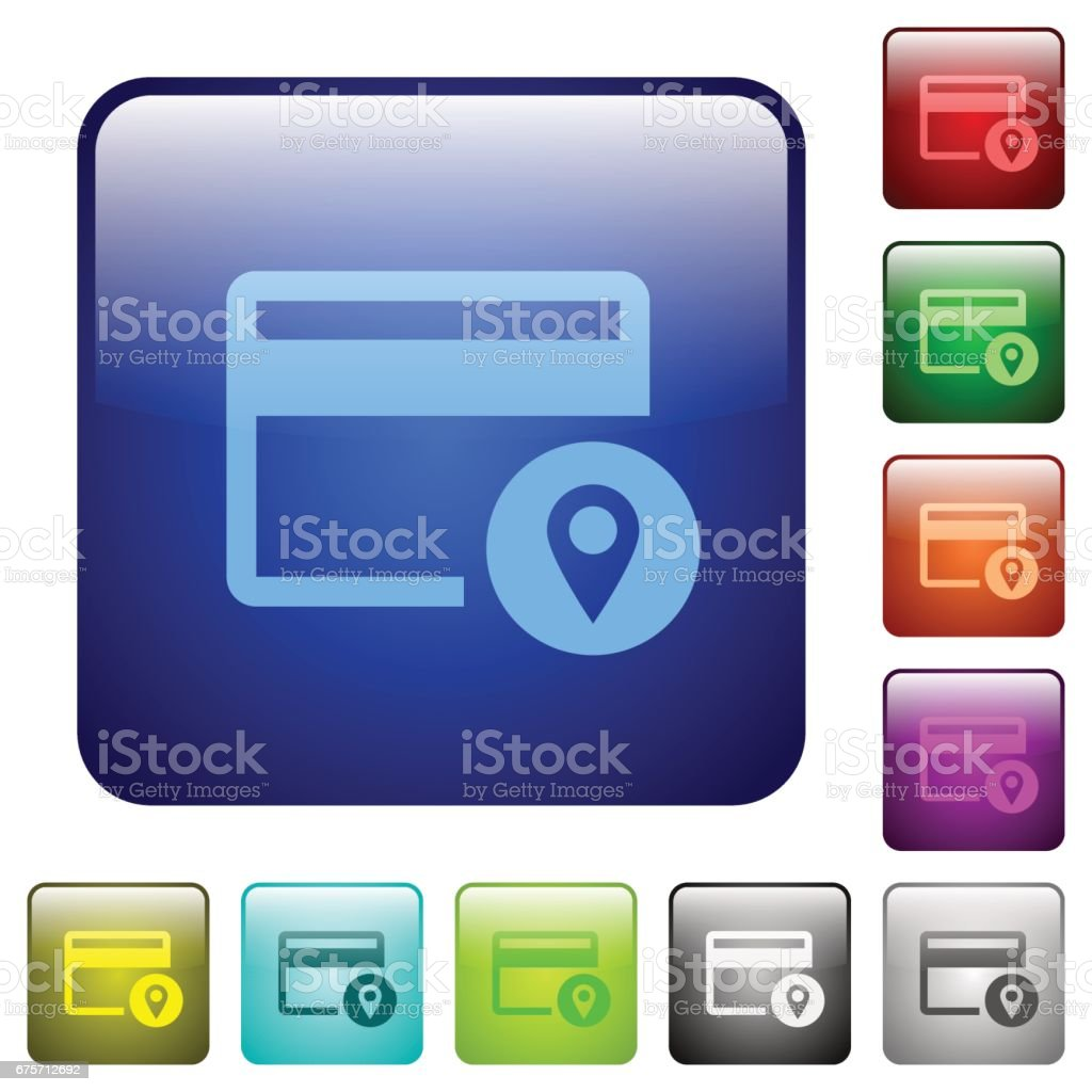 Credit card usage tracking color square buttons royalty-free credit card usage tracking color square buttons stock vector art & more images of applying