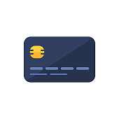 Credit Card Vector Icon.