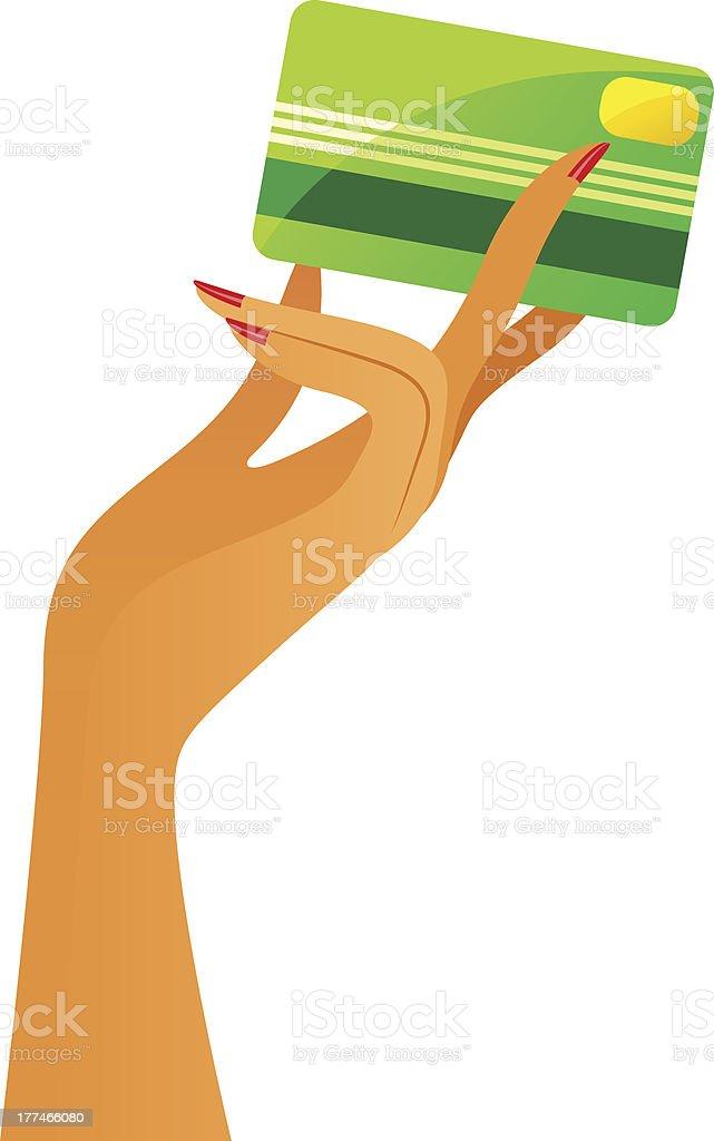 credit card vector art illustration