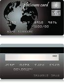 Realistic platinum credit card