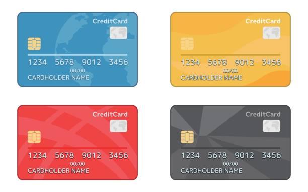 кредитная карты - credit card stock illustrations