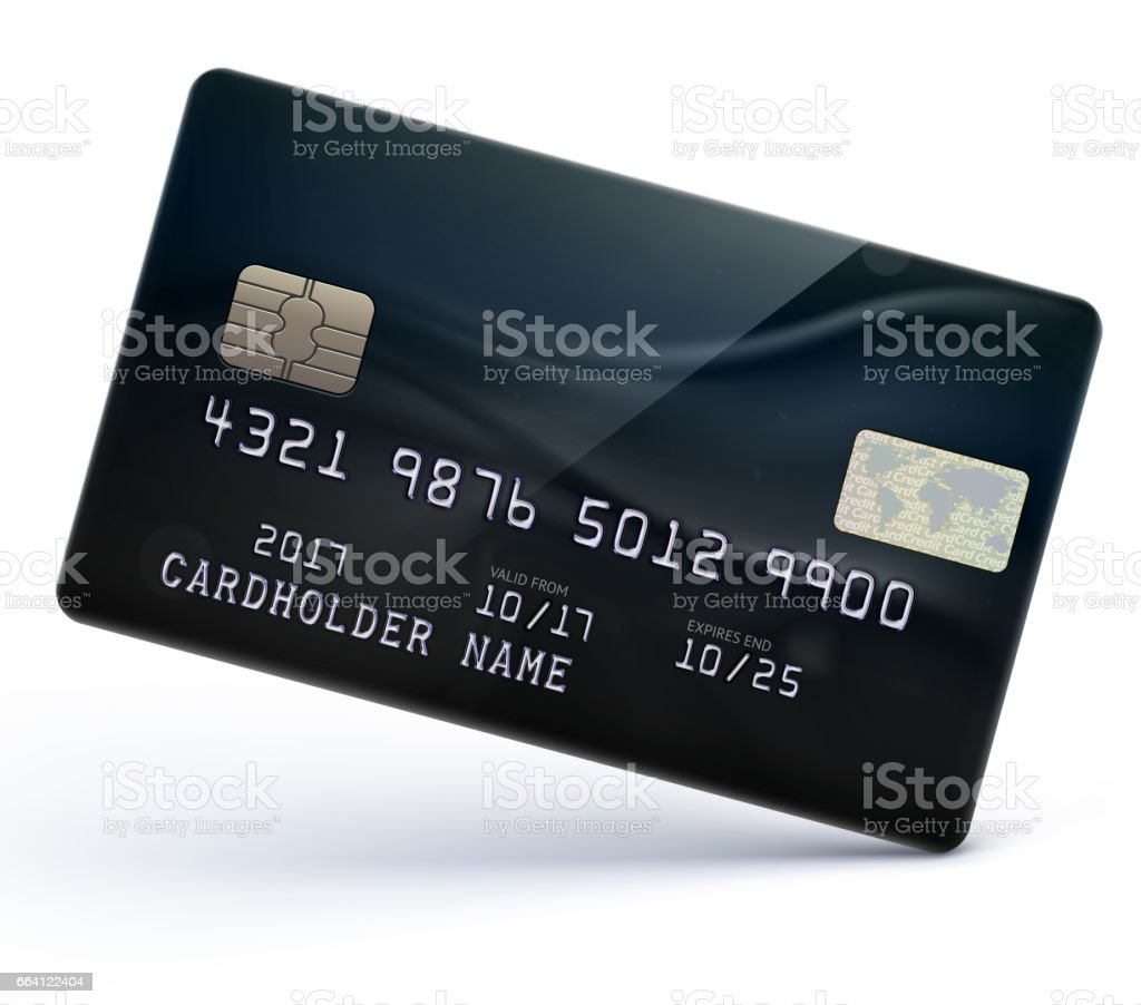 Credit card vector art illustration