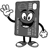 Credit Card Waving Illustration
