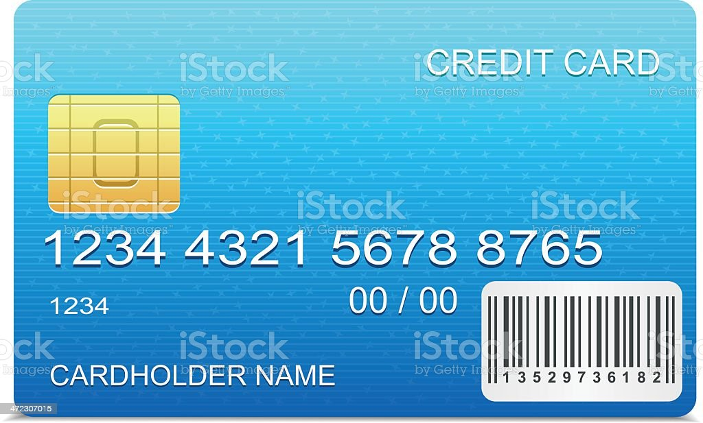 Credit Card with barcode royalty-free stock vector art