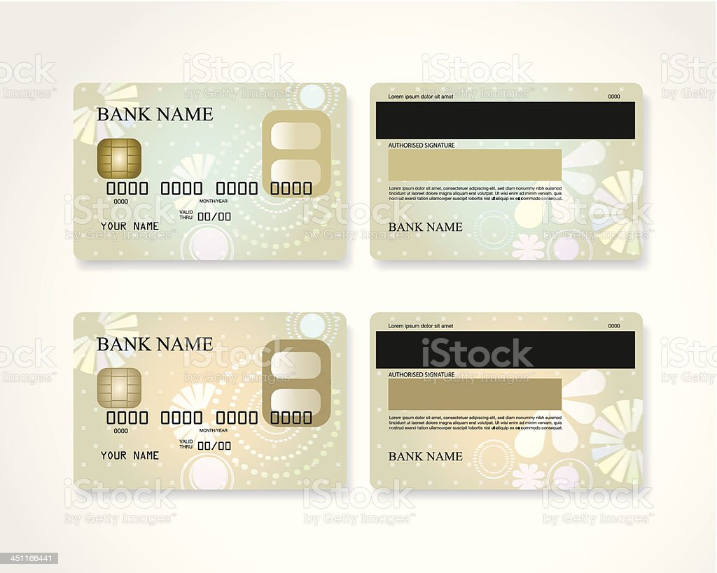 Credit card with design royalty-free stock vector art
