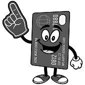 Credit Card with Foam Finger Illustration