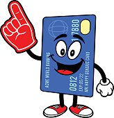 Credit Card with Foam Finger