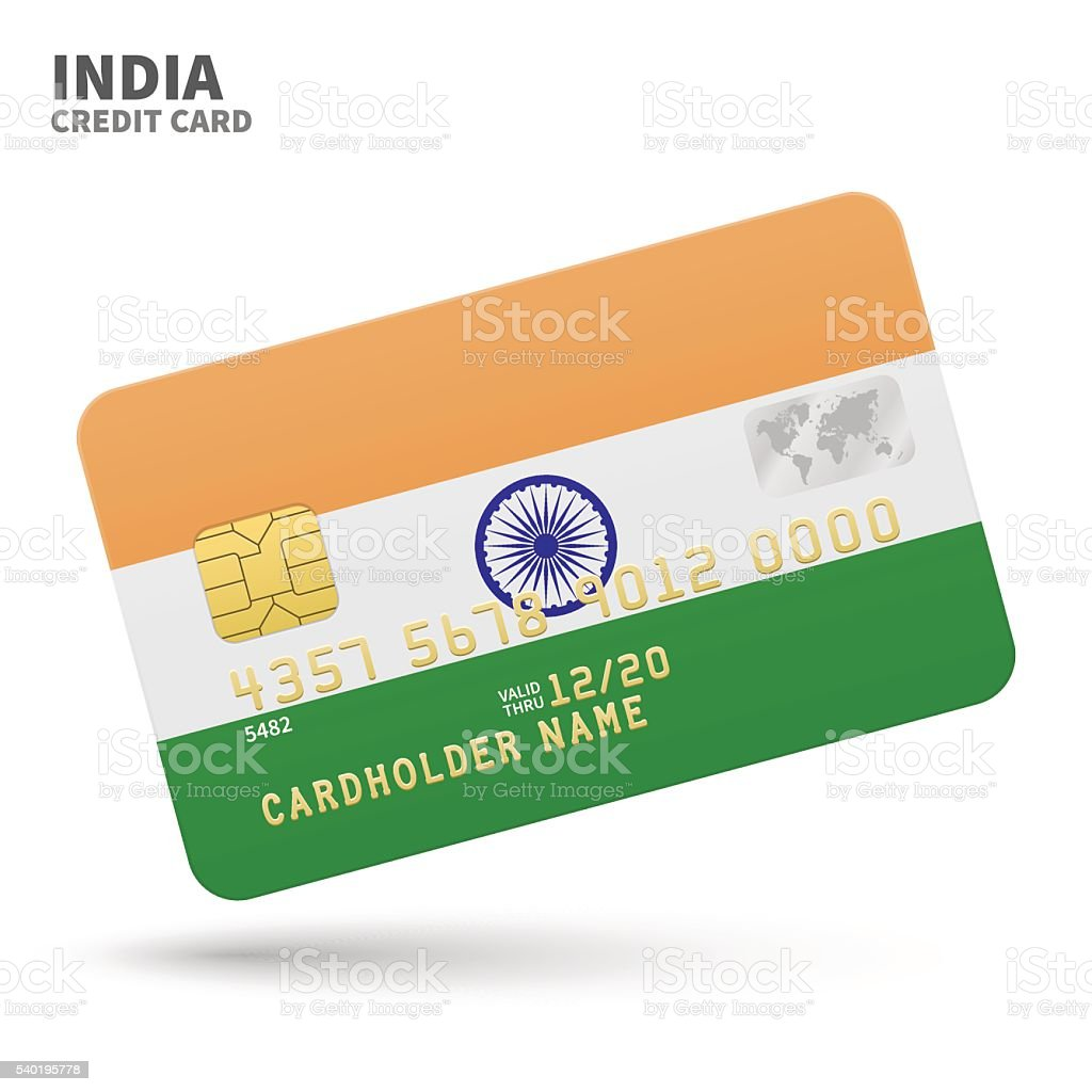 Credit card with india flag background for bank presentations and credit card with india flag background for bank presentations and royalty free credit card reheart Images