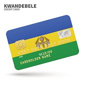 Credit card with KwaNdebele flag background for bank, presentations and