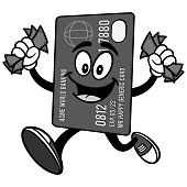 Credit Card with Money Illustration