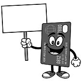 Credit Card with Sign Illustration