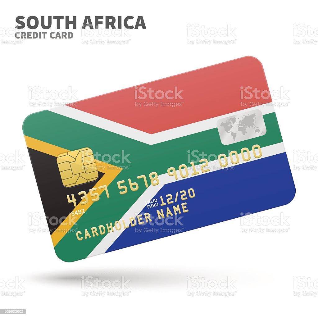 Carte Bancaire Afrique Du Sud.Carte De Credit Avec Lafrique Du Sud Fond De Drapeau Pour