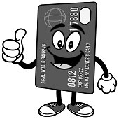 Credit Card with Thumbs Up Illustration