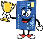 Credit Card with Trophy