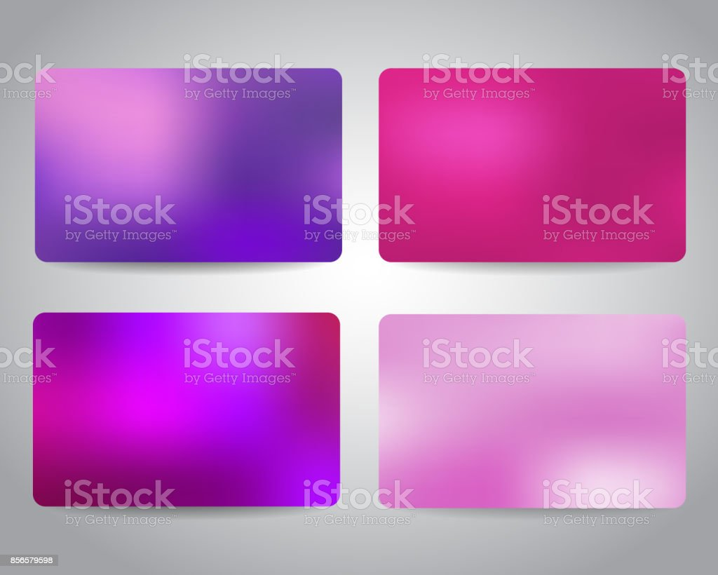 Credit Cards Or Gift Cards Templates Stock Illustration Download Image Now Istock