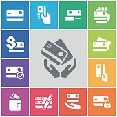 Credit Cart Icons,vector illustration.
