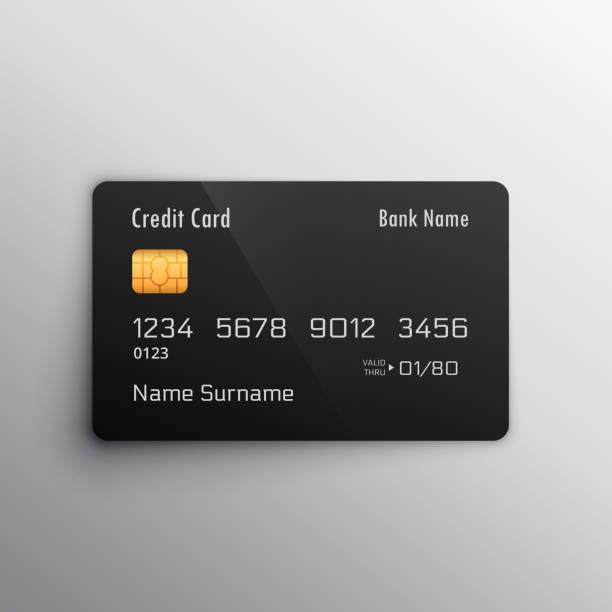 credit debit card mockup - credit card stock illustrations