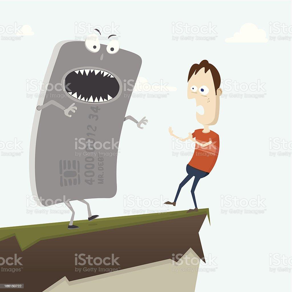 Credit Debt Nightmare royalty-free stock vector art