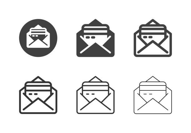 Credit Envelope Icons - Multi Series vector art illustration