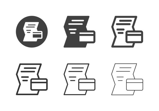 Credit Info Icons - Multi Series vector art illustration